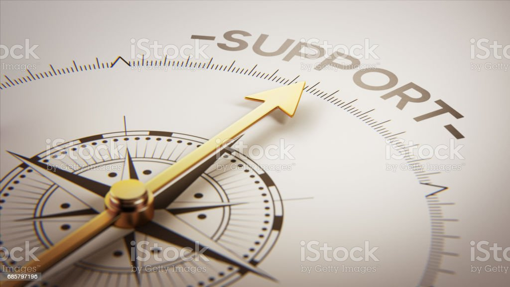 Golden Compass Concept stock photo