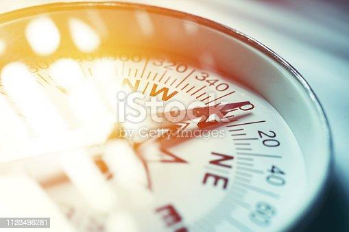 istock Golden Compass 1133496281