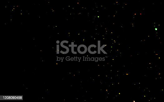 992937254 istock photo Golden confetti. Abstract background with golden shiny sparkling sparkles. 1208090458