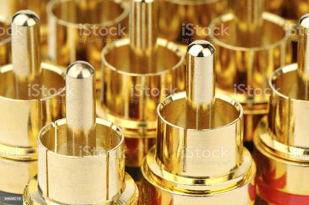 Golden connectors background royalty-free stock photo