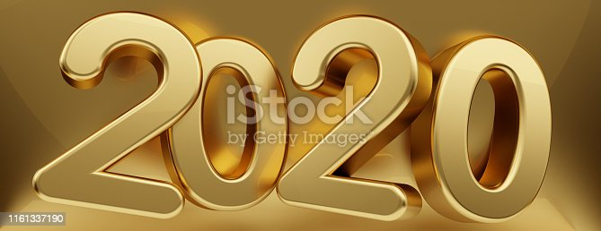 istock 2020 golden creative abstract background 3d-illustration 1161337190