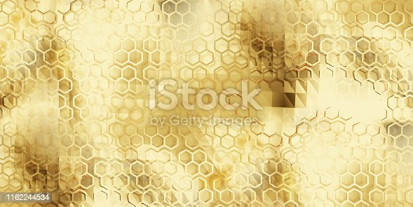 istock golden creative abstract background 3d-illustration 1162244534