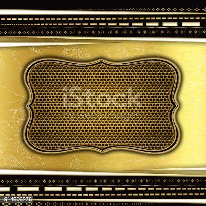 istock Golden creative background 914606276