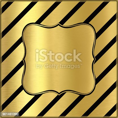 istock Golden creative background with lines and place for text 901461090