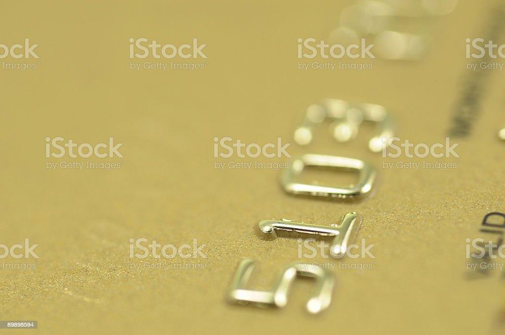 Golden credit card closeup royalty-free stock photo
