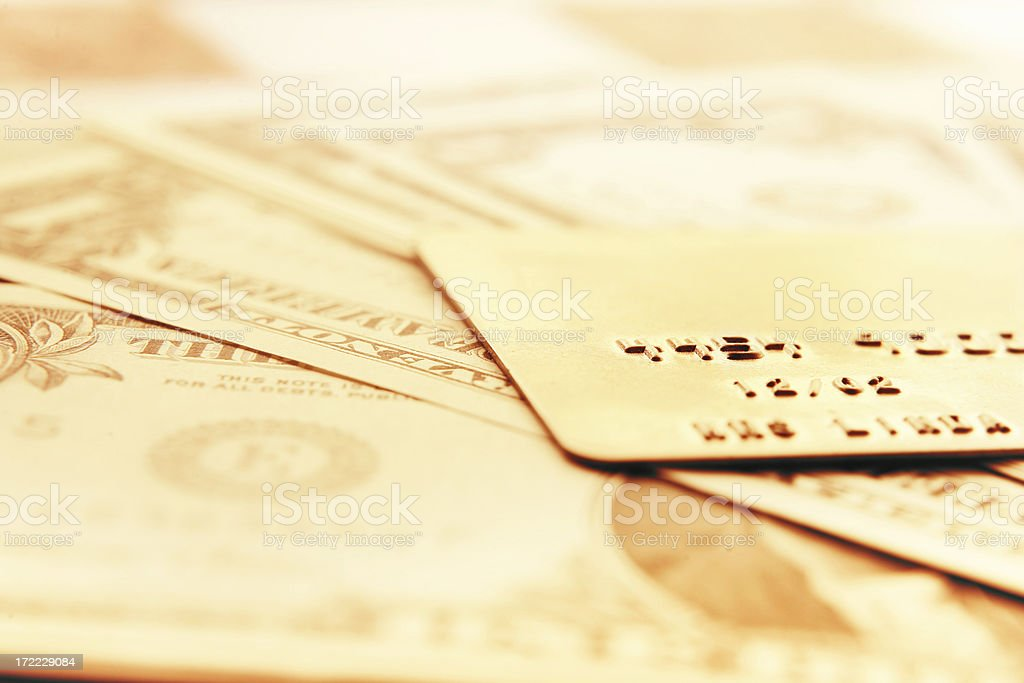 Golden Credit royalty-free stock photo
