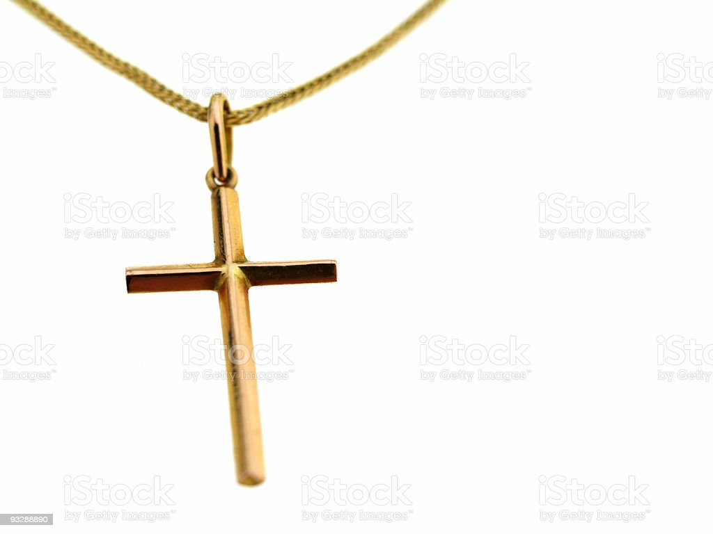 Golden Cross royalty-free stock photo