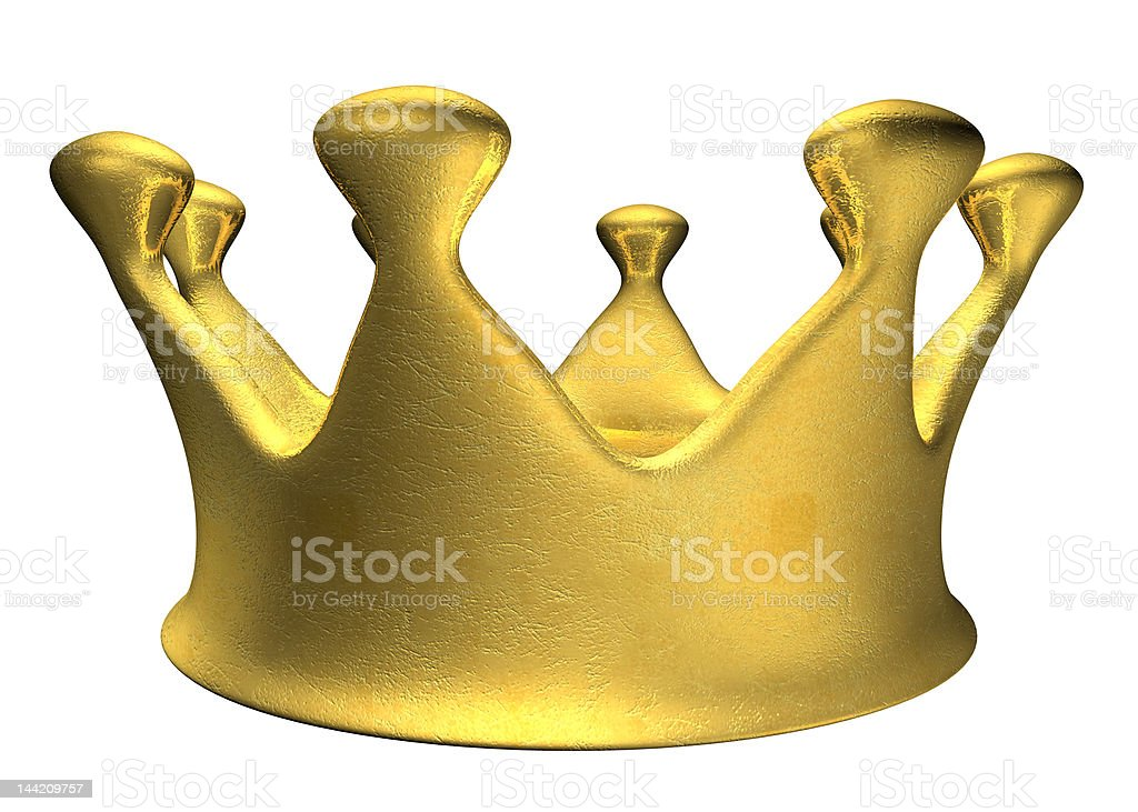 Golden Crown C royalty-free stock photo