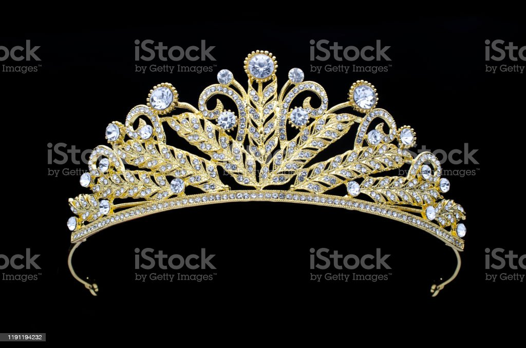 Golden Crown On A Black Background Stock Photo - Download ...