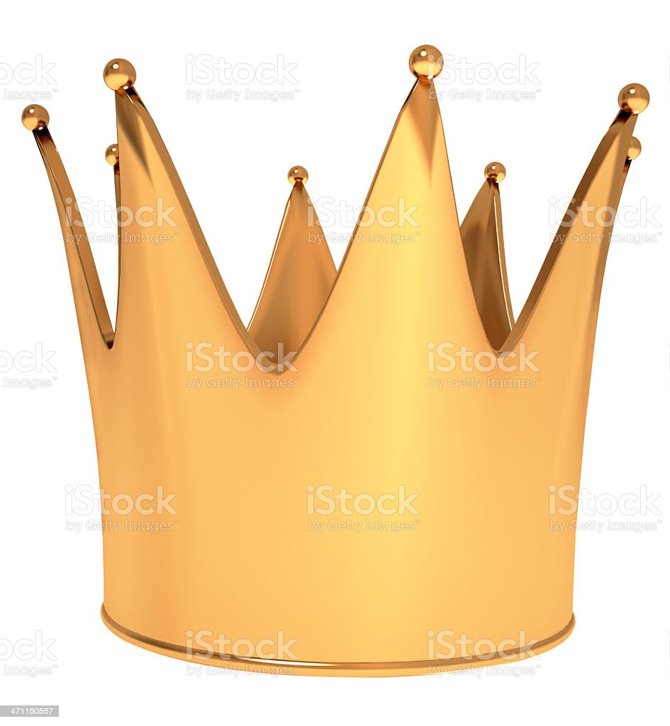 Golden crown royalty-free stock photo