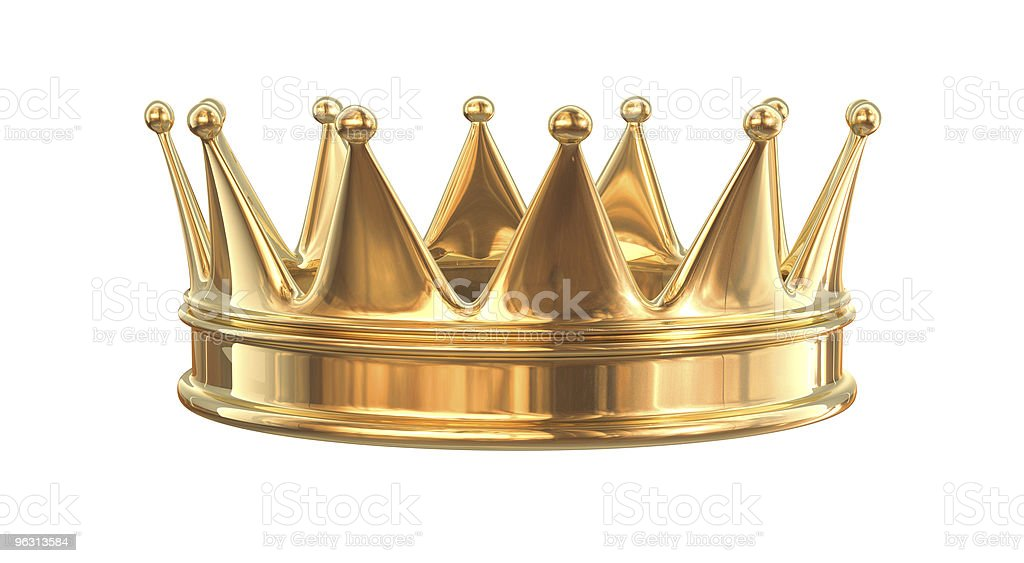 Golden crown stock photo