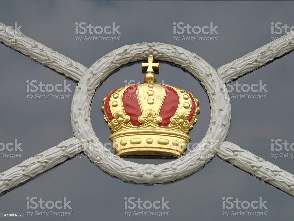 golden crown window ornament royalty-free stock photo