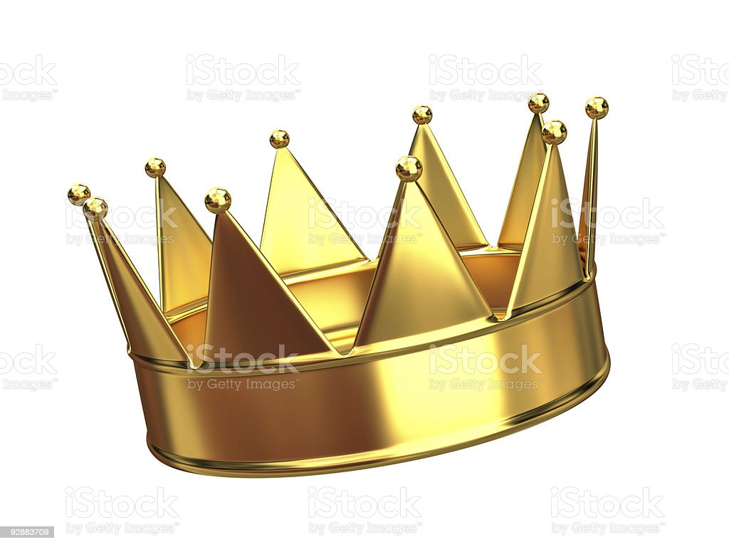A golden crown with ten points  royalty-free stock photo