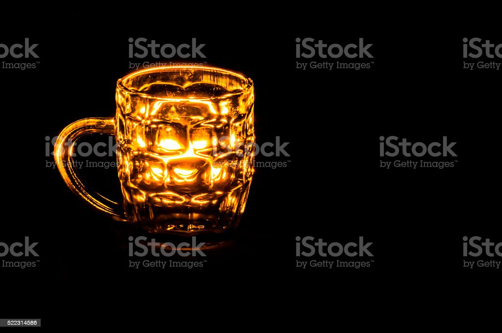Golden Cup Glass... stock photo