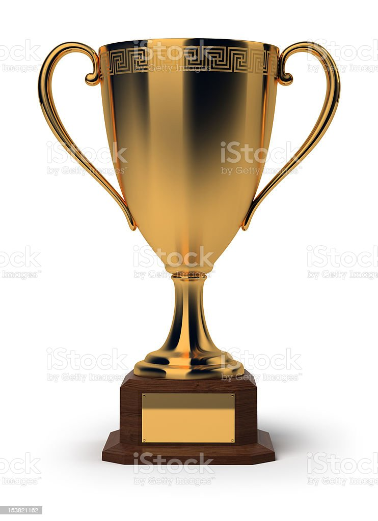 golden cup royalty-free stock photo