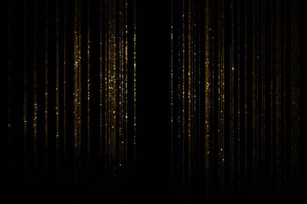 黄金のカーテン - glitter curtain ストックフォトと画像