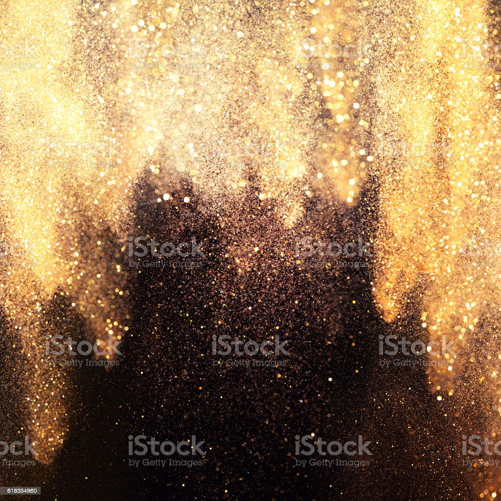 Golden curtain. stock photo