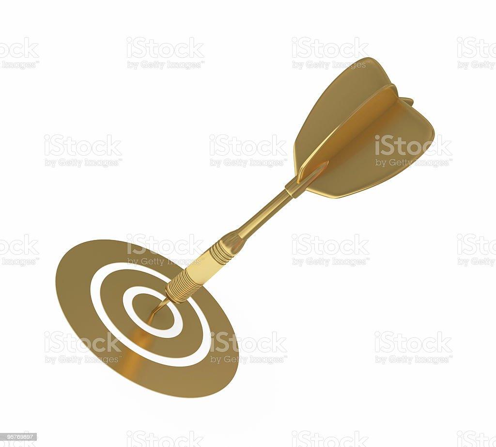 golden dart stock photo