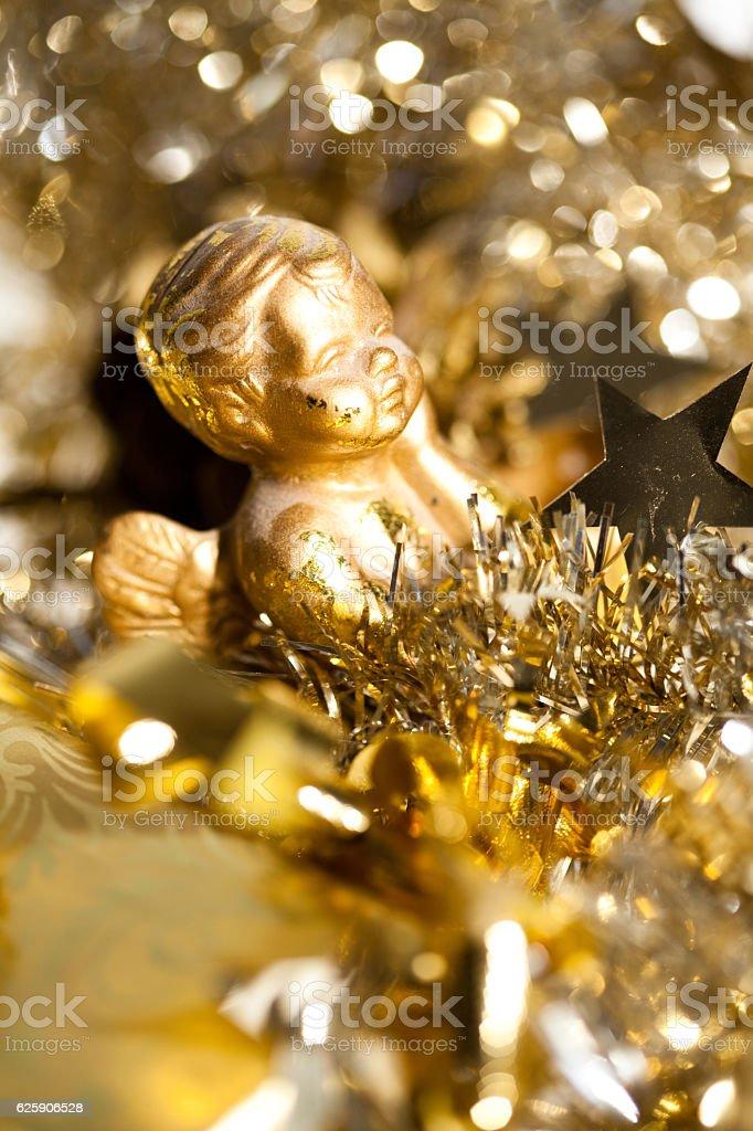 Deco Ange De Noel Décoration Dorée Et Ange De Noël Stock Photo   Download Image Now