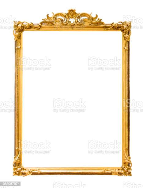 Golden decorative picture frame isolated on white picture id935087974?b=1&k=6&m=935087974&s=612x612&h=3et9pl7ci4mhe8 ltvx3mmblnnonpvyidlvelx wogc=