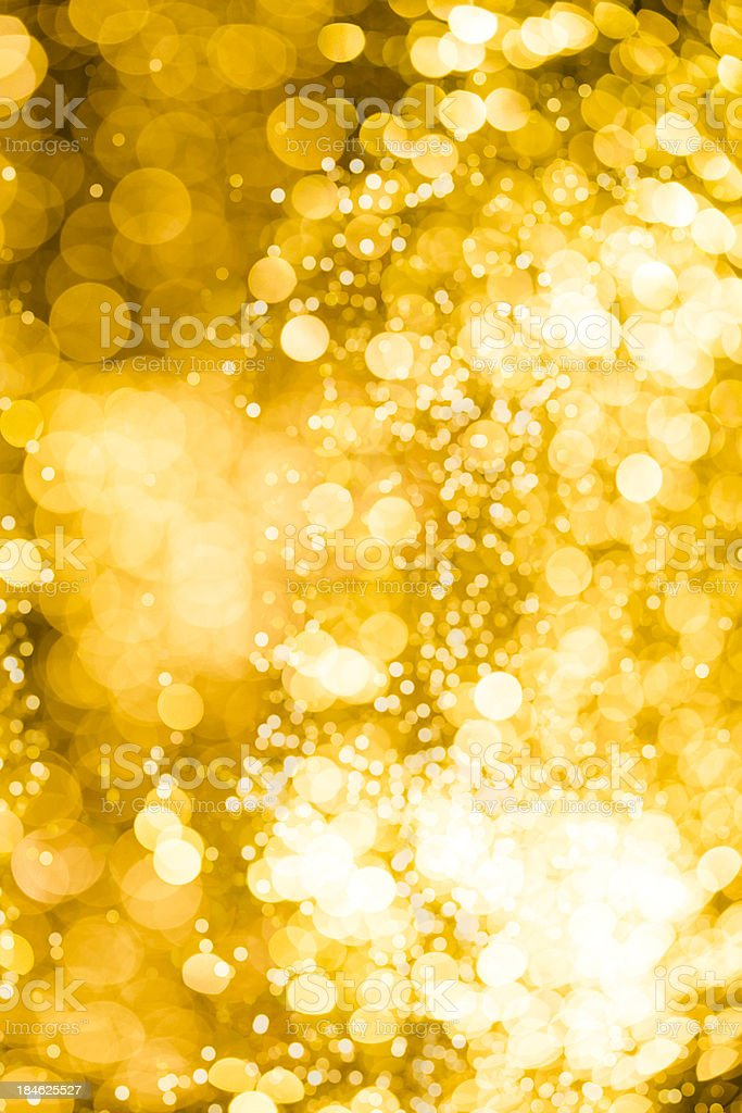 golden defocused lights for christmas royalty-free stock photo