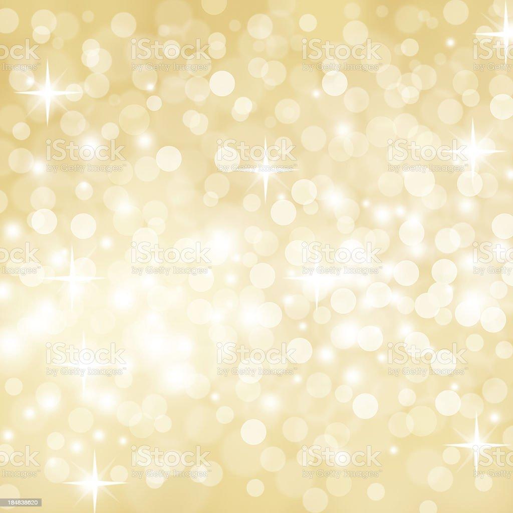 Golden Defocused Lights stock photo