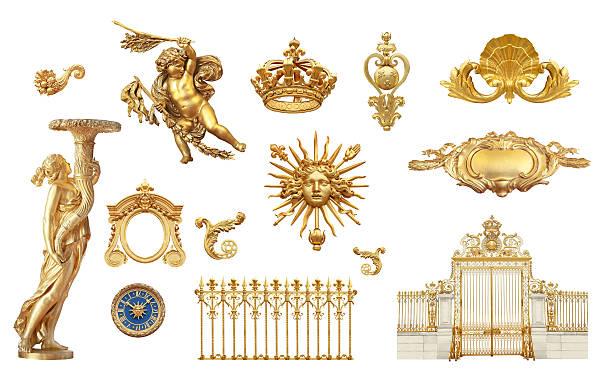 goldene details - engelportal stock-fotos und bilder