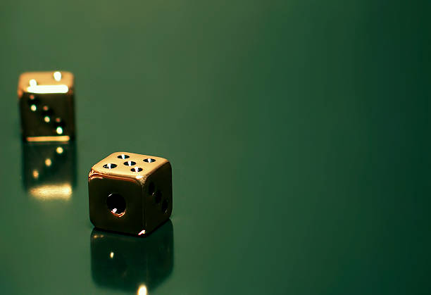 Golden Dice-01 stock photo
