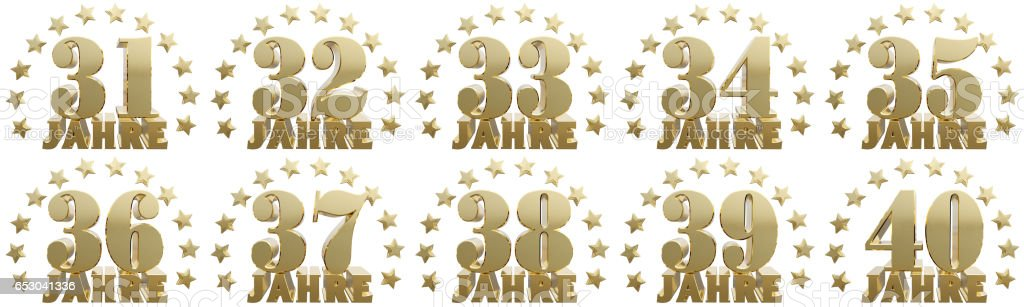 Golden digit one and the word of the year. stock photo