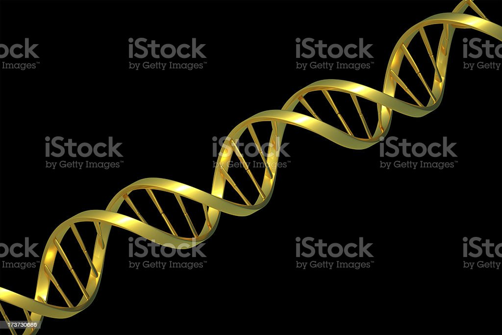 golden DNA royalty-free stock photo