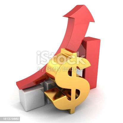 93070459 istock photo golden dollar financial success bar chart graph red arrow 181329880