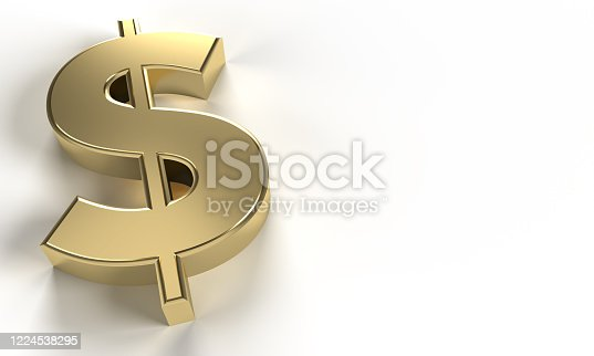 621262396 istock photo golden Dollar sign (clipping path) 1224538295