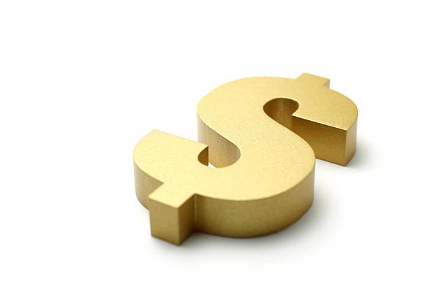 Golden Dollar Sign stock photo