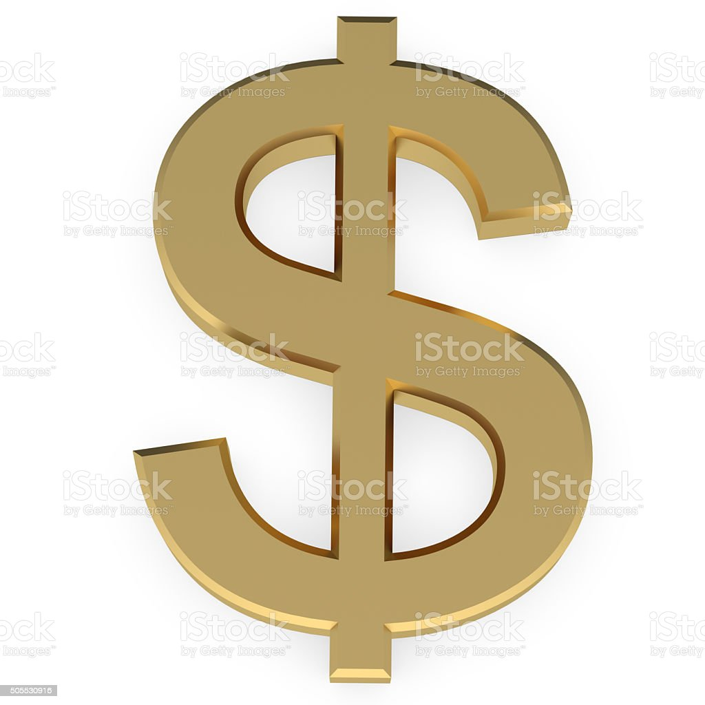 Golden Dollar Sign stock photo