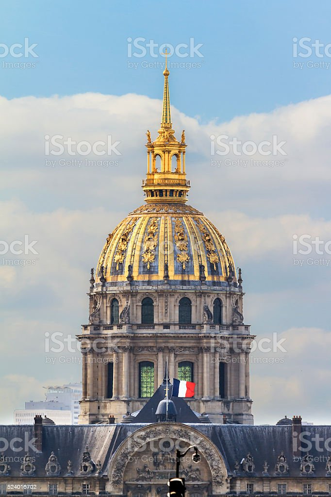 Golden dome Invalides stock photo