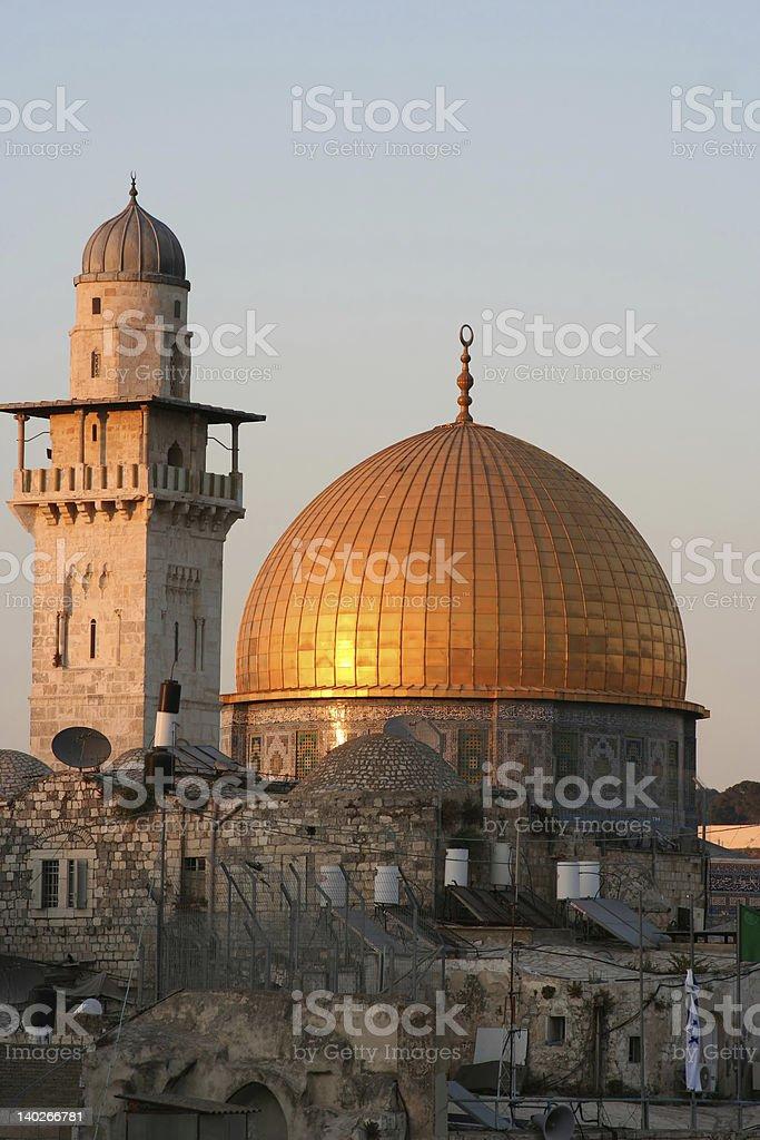 Golden Dome of the Rock, Jerusalem royalty-free stock photo