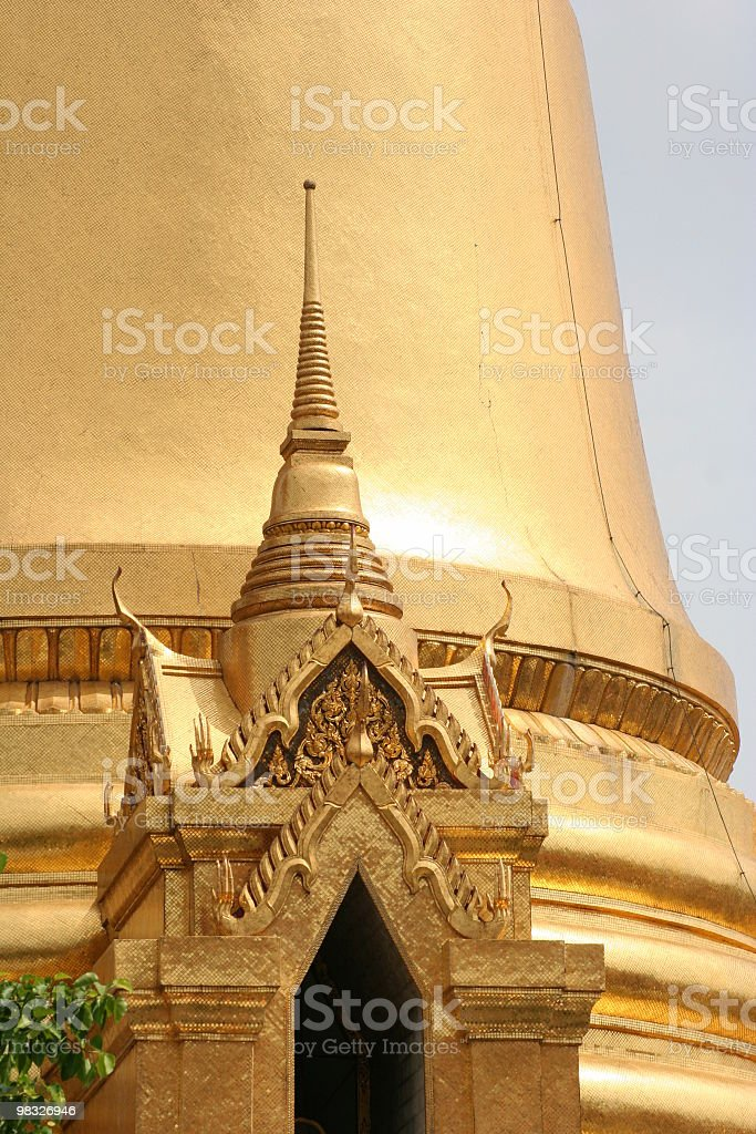 Cupole dorate, il Grand Palace, Bangkok foto stock royalty-free