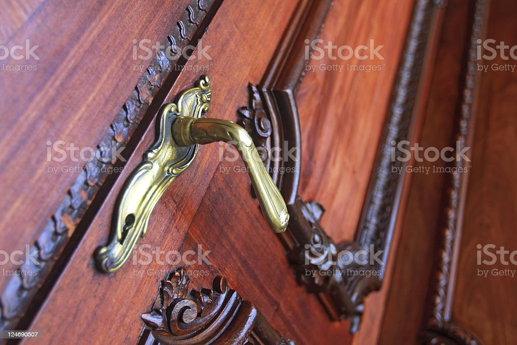 Golden door knob royalty-free stock photo