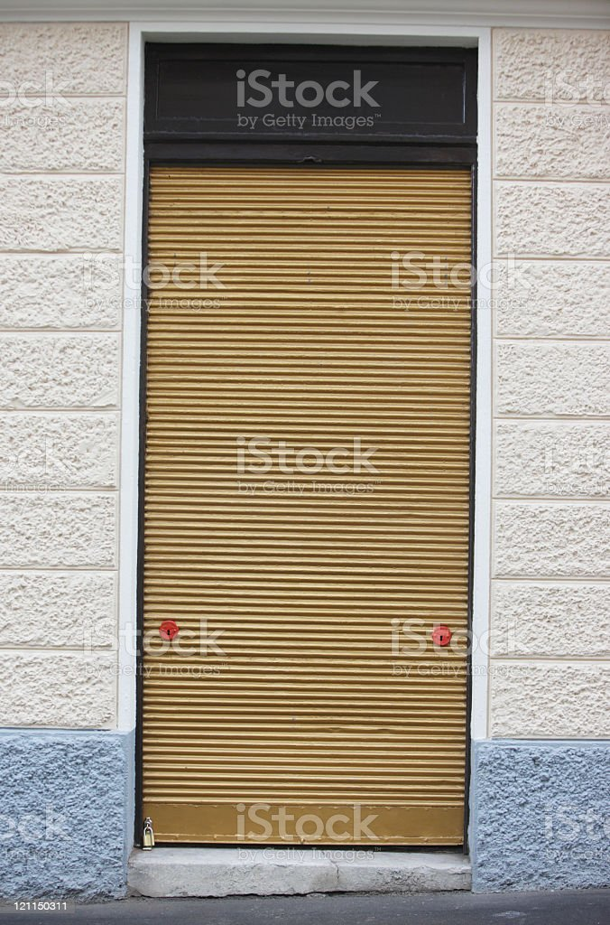 Golden door stock photo