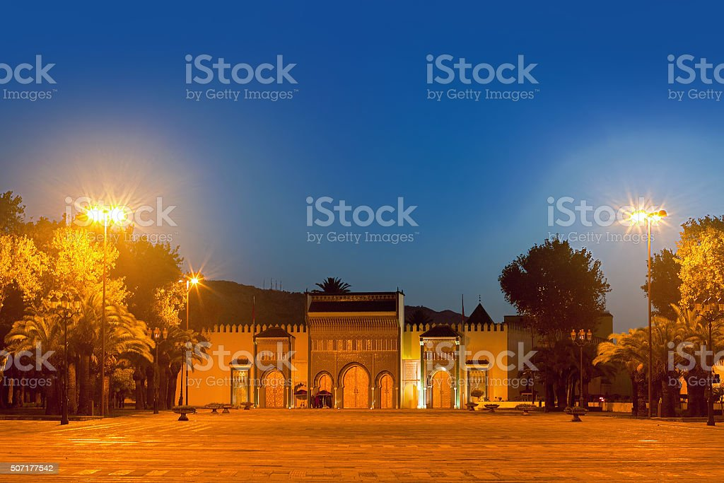 Golden doors of the royal Palace in Fez, Morocco