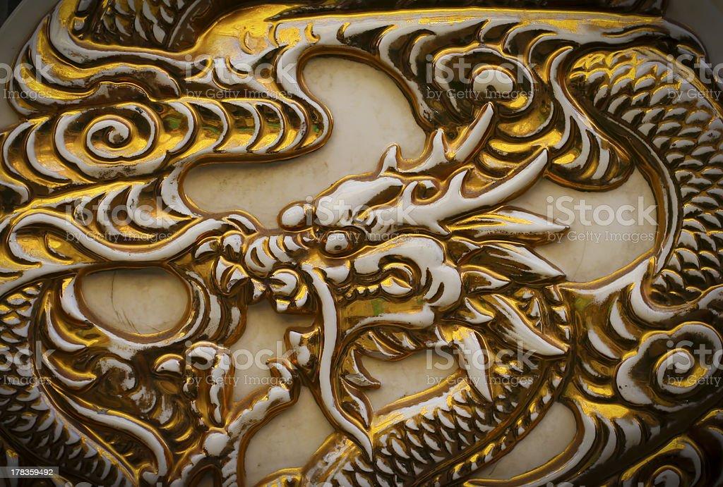 Golden dragon royalty-free stock photo