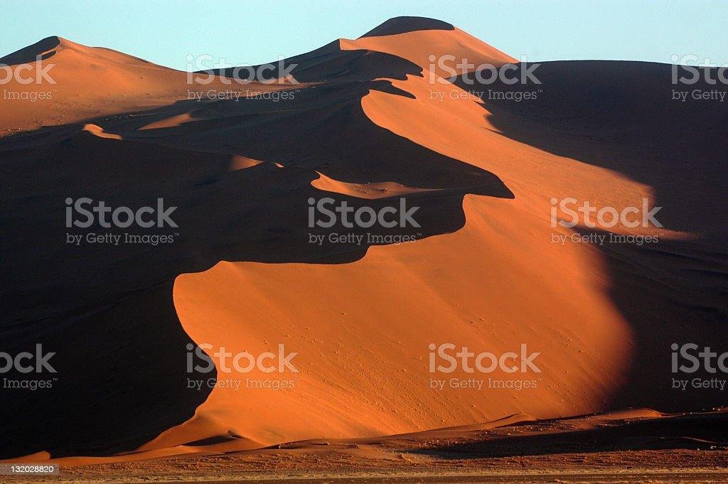 Golden dunes stock photo