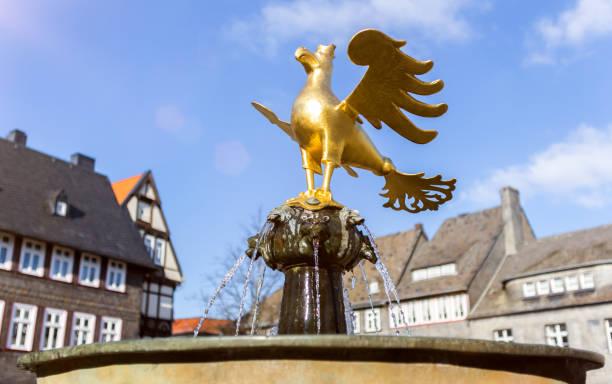 golden eagle statue goslar germany golden eagle statue goslar germany lower saxony stock pictures, royalty-free photos & images