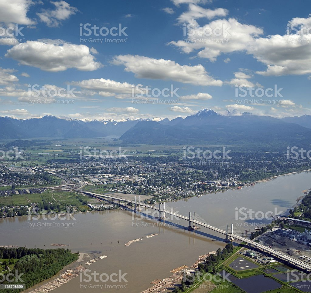 Golden Ears Bridge stock photo