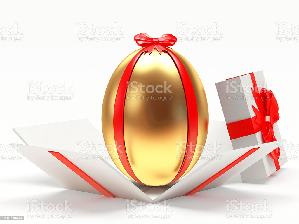 Golden easter egg in an open gift box stock photo more pictures golden easter egg in an open gift box royalty free stock photo negle Choice Image