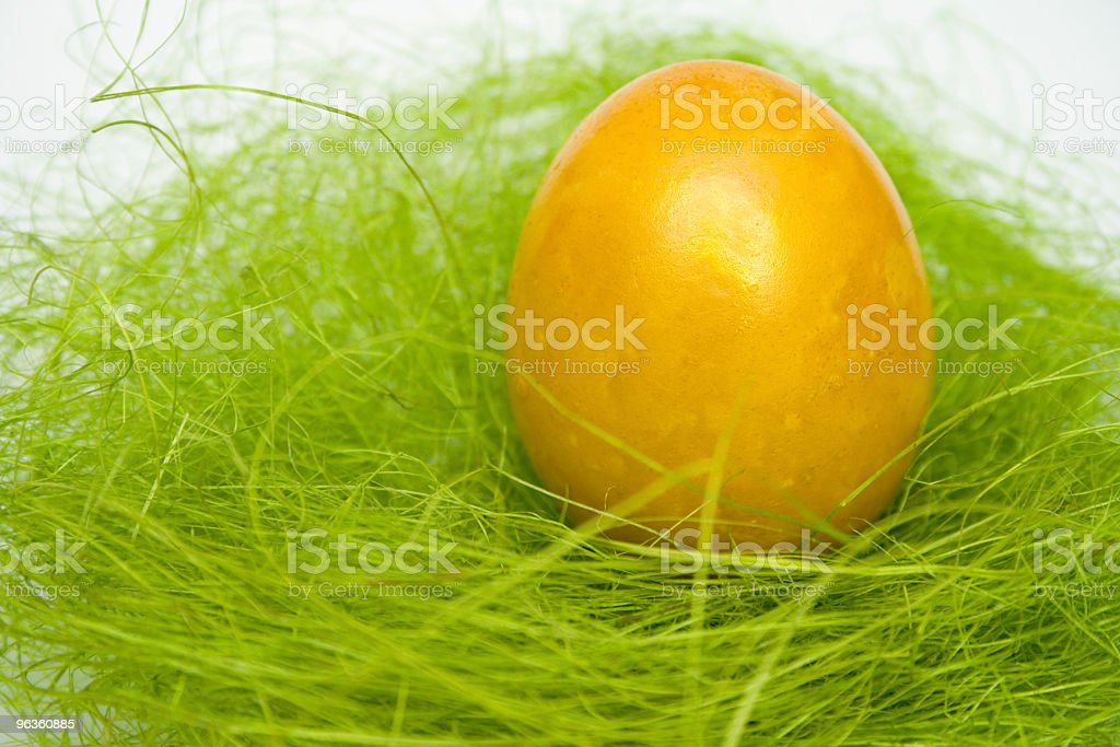 Golden Easter Egg royalty-free stock photo
