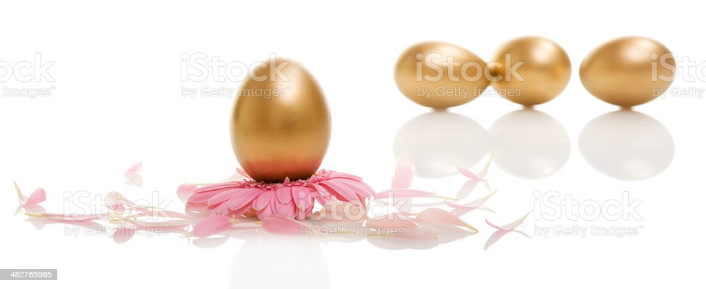 Golden Easter Eggs royalty-free stock photo