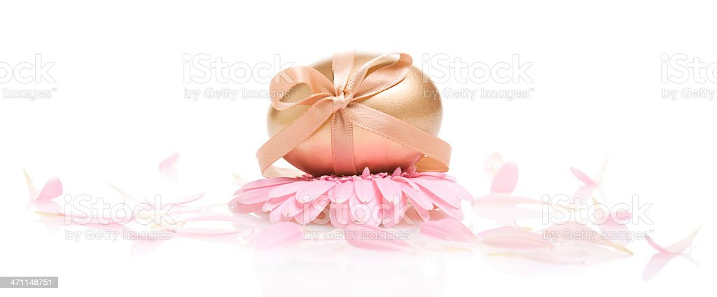 Golden Easter Gift royalty-free stock photo