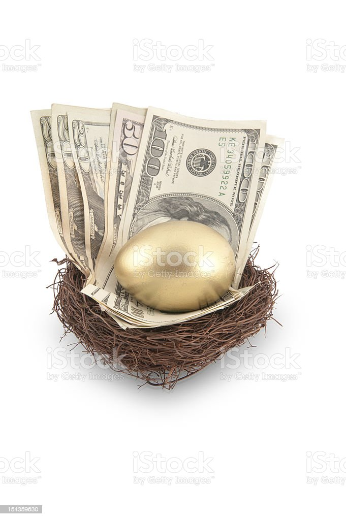 Golden Egg and Cash royalty-free stock photo