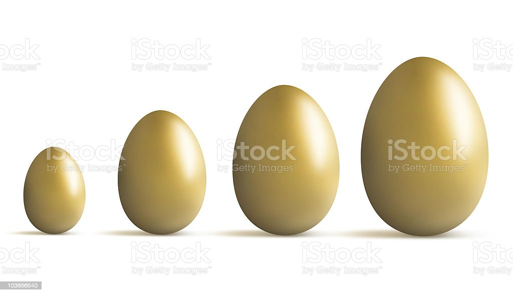 golden egg growing royalty-free stock photo